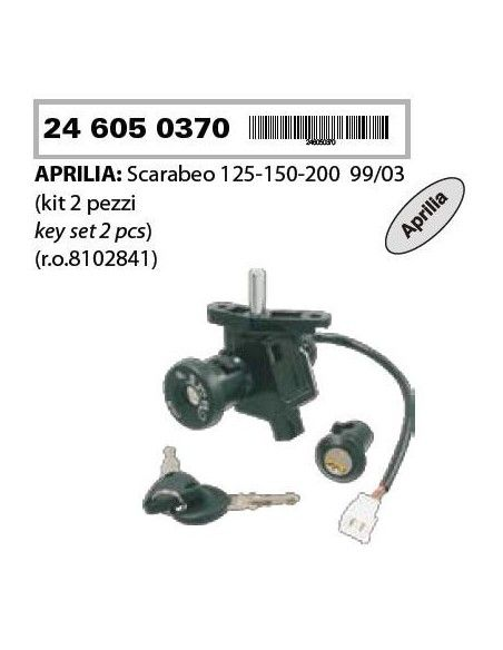 KIT SERRATURE APRILIA SCARABEO 125 150 200 BLOCCHETTO ACCENSIONE