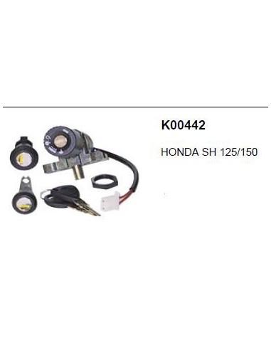 KIT SERRATURE HONDA SH 125 150 BLOCCO CHIAVI