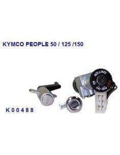 KIT SERRATURE KYMCO PEOPLE 50 125 150 BLOCCHETTO AVVIAMENTO CON SERRATURE