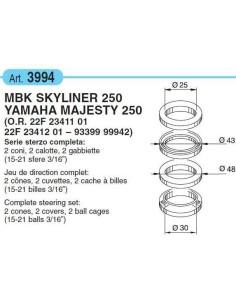 SERIE STERZO YAMAHA MAJESTY 250 DAL 2000 IN POI
