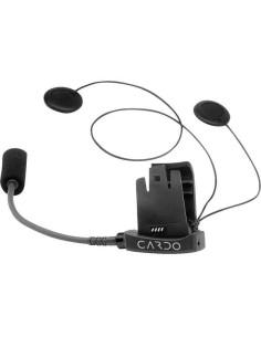 KIT AUDIO CARDO SCALA RIDER SOLO FM TEAMSET Q2 MIDLAND BT VERSIONE MICROFONO CON ASTA