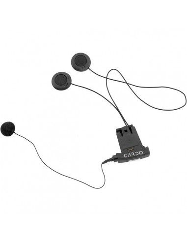 KIT AUDIO CARDO SCALA RIDER SOLO FM TEAMSET Q2 MIDLAND BT VERSIONE MICROFONO A FILO