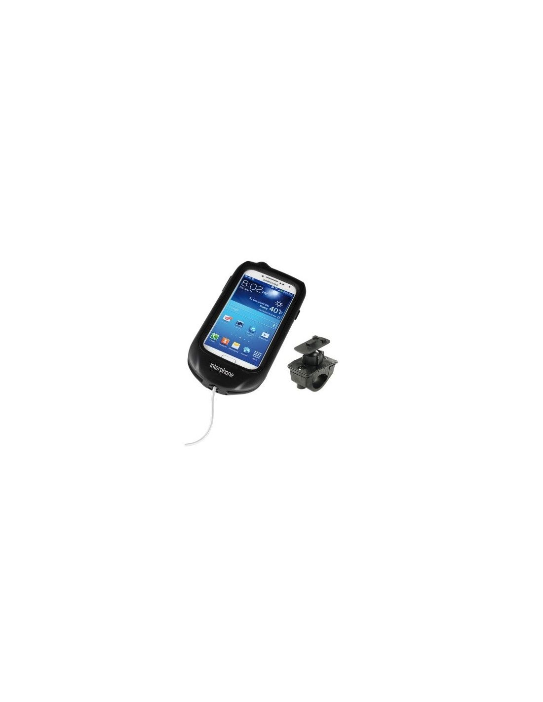 Phone holder for motorcycle handlebar mount for Samsung Galaxy S4