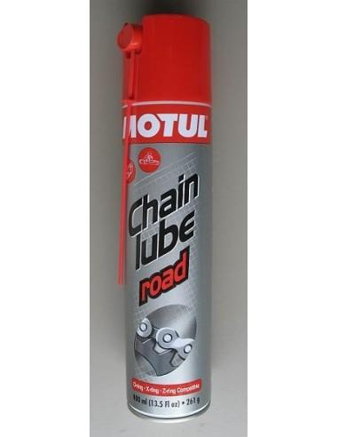 Grasso per catene Motul da 400 ml adatto a tutti i modelli di catene per moto chainlube road