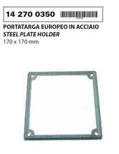 CORNICE TARGA IN ACCIAIO LUCIDO PIAGGIO VESPA PX PE 125 150 200