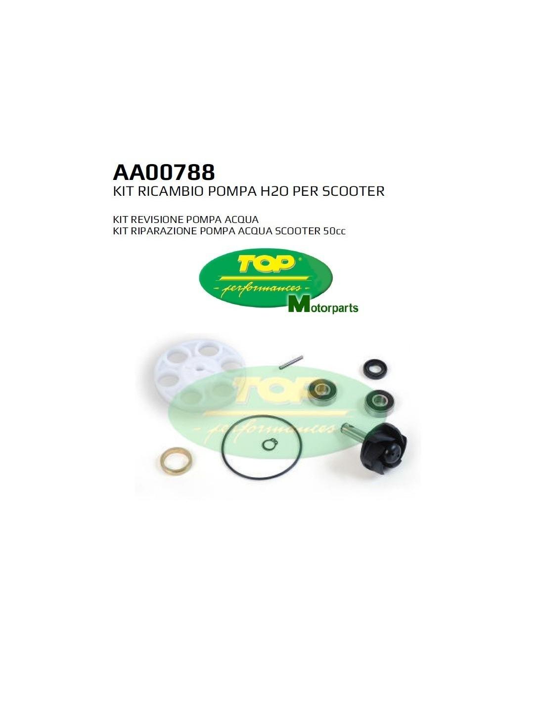AA00788 KIT REVISIONE POMPA ACQUA MALAGUTI F12 R PHANTOM LC 50 2T 07  10