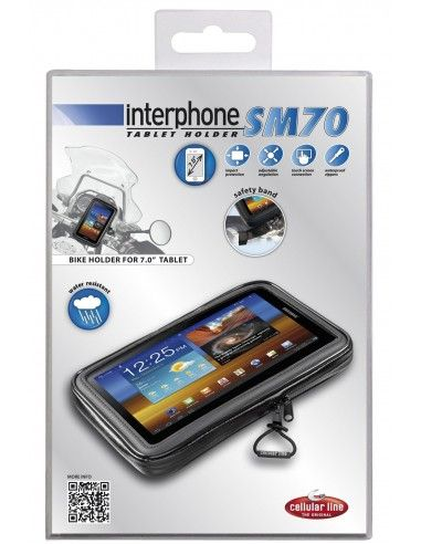 Sm70 Motorcycle Interphone Case For 7 Inch Tablet