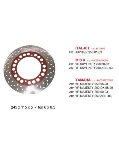 Disc frana fata YAMAHA MAJESTY 250 DISCK022