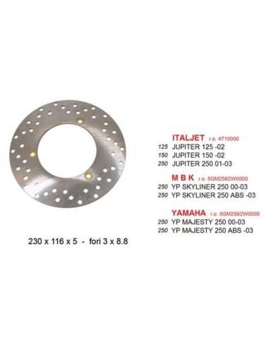 ACHTER REMSCHIJF Yamaha Majesty 250 DISCK028