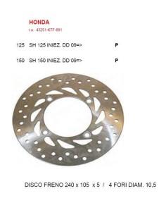 DISCO FRENO POSTERIORE HONDA SH 125 150 IE DAL 2009