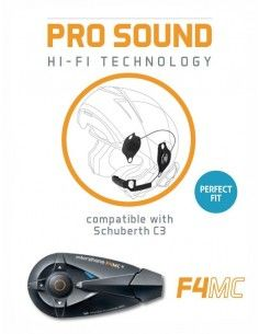 F4MC single + Pro Sound Audio Kit Schuberth C3