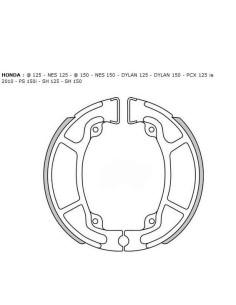 Задни спирачни челюсти HONDA SH KYMCO 125 150 125 150 4104 гайка Дилън облицовки