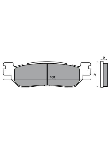 Pastiglie freno posteriore Yamaha Majesty YP 250