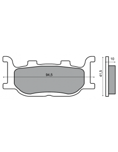TMAX TMAX FRONT BRAKE PADS 2004 2007