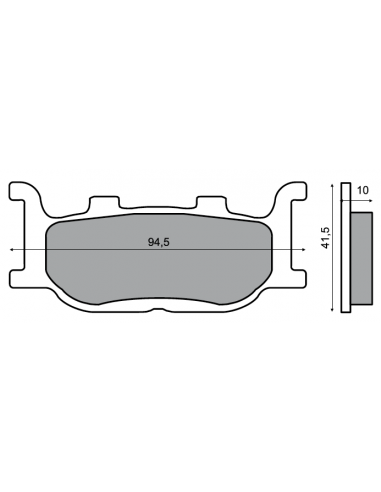 FRONT BRAKE PADS TMAX TMAX 2004 2007