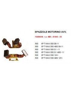 Spazzole motorino avviamento per yamaha tmax 500 dal 2008 al 2011 e tmax 530 dal 2012