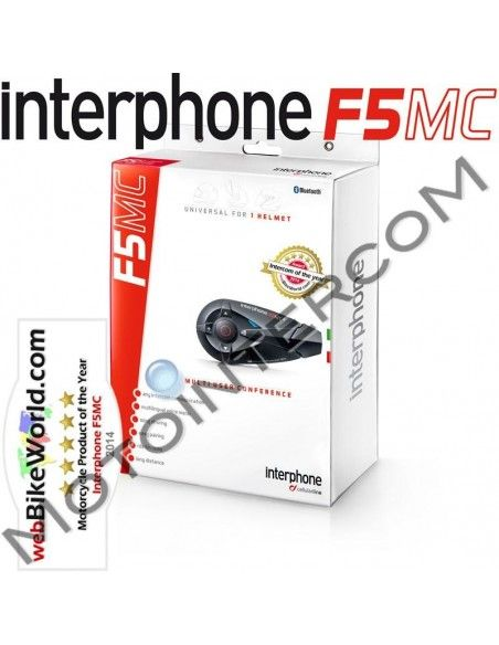 F5MC singolo Interphone Cellularline Interfono Bluetooth moto
