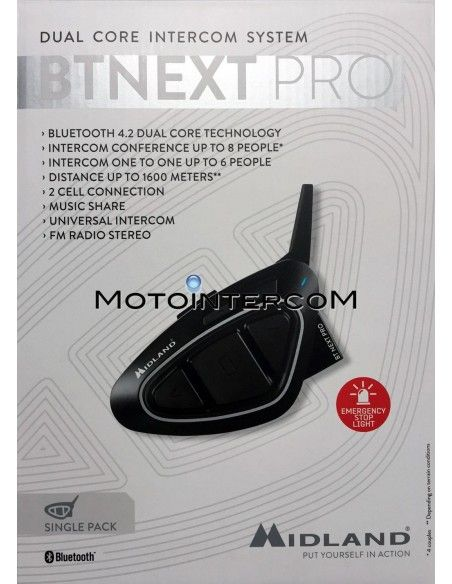 BT NEXT PRO Single Pack Midland Intercom Conference BTNEXT-PRO