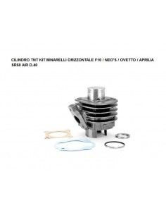 CYLINDER CYLINDER AND PISTON DR 50CC BEETLE WHY F10 Minarelli HORIZONTAL HEAD DR EXCLUDED OR TNT