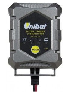 UNIBAT 12V BATTERY CHARGER CHARGE AND EFFICIENCY IN THE BATTERY KEEPS THE MOTORCYCLE OR SCOOTER