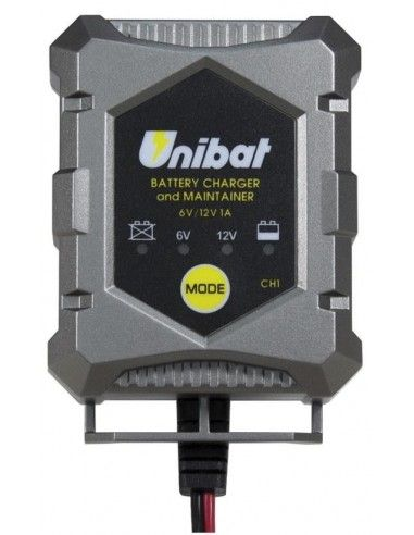 CARREGADOR DE BATERIA 12V UNIBAT em eficiência e mantém a bateria ou MOTO SCOOTER