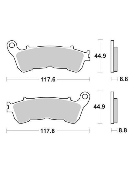 SINTERED BRAKE PADS HONDA FORZA, Silverwing, sh 125, 150 sh suzuki 16 200