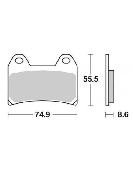 MOTORCYCLE BRAKE PADS SINTERED SBS 706