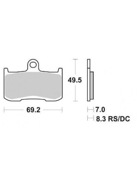 MOTORCYCLE BRAKE PADS SINTERED SBS 782