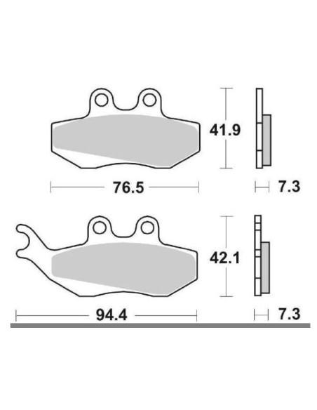 MOTOCICLETA plăcuțele de frână ceramică SBS 689