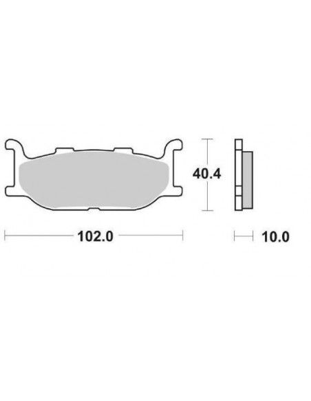 MOTORCYCLE BRAKE PADS CERAMIC SBS 663