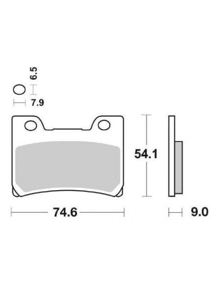 MOTORCYCLE BRAKE PADS SINTERED SBS 665