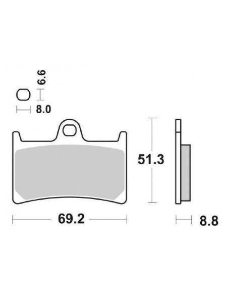 MOTORCYCLE BRAKE PADS SINTERED SBS 634