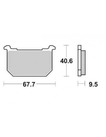 MOTORCYCLE BRAKE PADS CERAMIC SBS 540