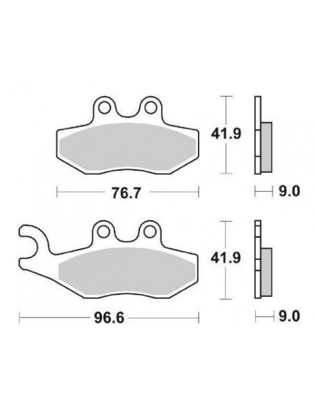 SCOOTER BRAKE PADS CERAMIC SBS 177