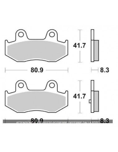 REAR BRAKE PADS BURGMAN 250 400 NEW