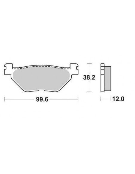 REAR BRAKE PADS TMAX TMAX 500 2000 2003