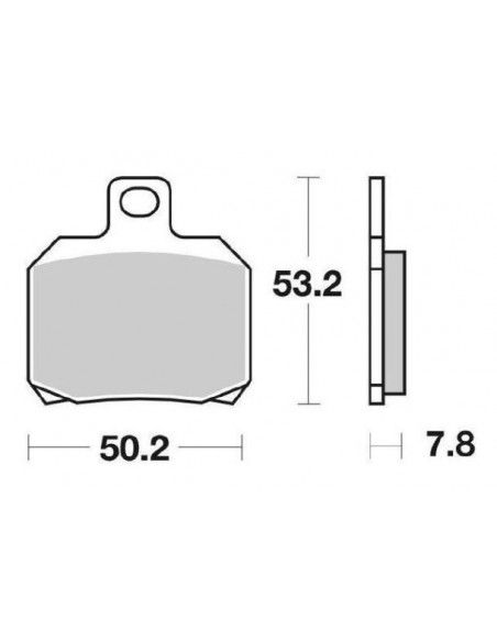 SCOOTER BRAKE PADS CERAMIC SBS 157