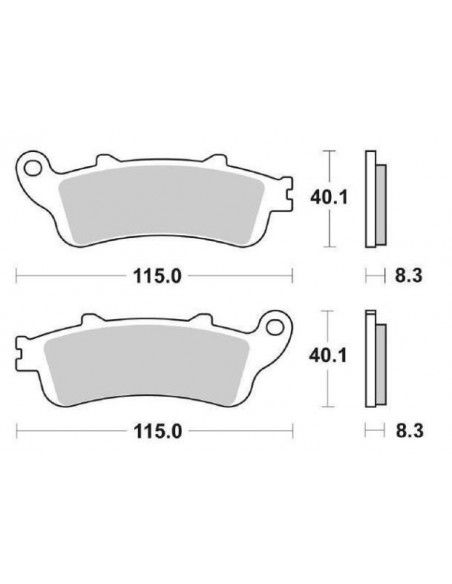 BRAKE PADS SINTERED Honfa Force Foresight Silverwing Looxor