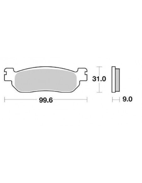 Rear brake pads Yamaha Majesty YP 250