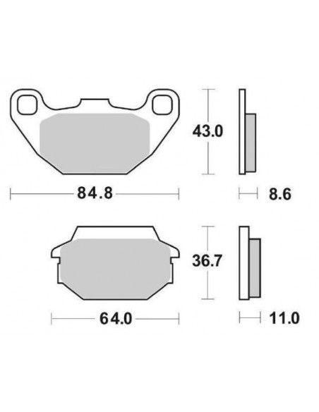 FRONT BRAKE PADS SBS PEOPLE 50125150200