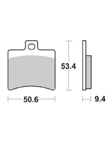 Pastilhas do travão traseiro BESOURO 125 150