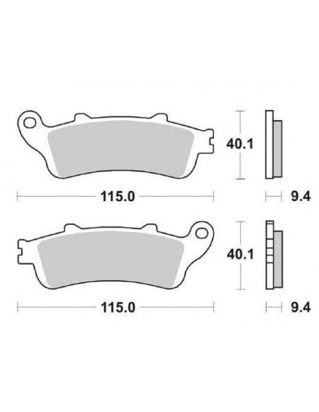 FRONT BRAKE PADS SBS FORESIGHT 250, PANTHEON
