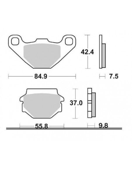 MOTORCYCLE BRAKE PADS CERAMIC SBS 546