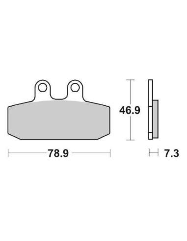 Almofadas de freio dianteiras BESOURO 125 150