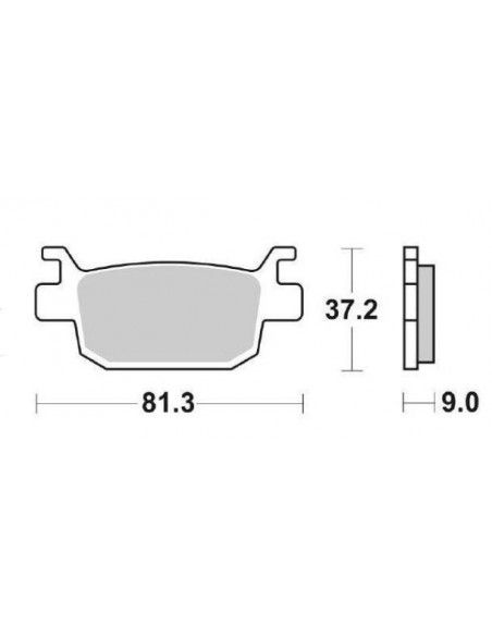 BRAKE PADS SINTERED Honda Forza, Silverwing, sh 125 sh 150 sh 300
