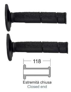 Черни дръжки на Мотор Крос, Ендуро 118 мм за най-добра цена
