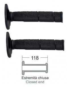 Grips black Bike Cross Enduro 118 mm best price