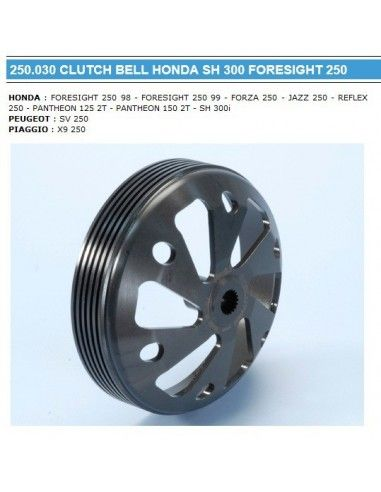 CAMPANA FRIZIONE POLINI HONDA SH 300
