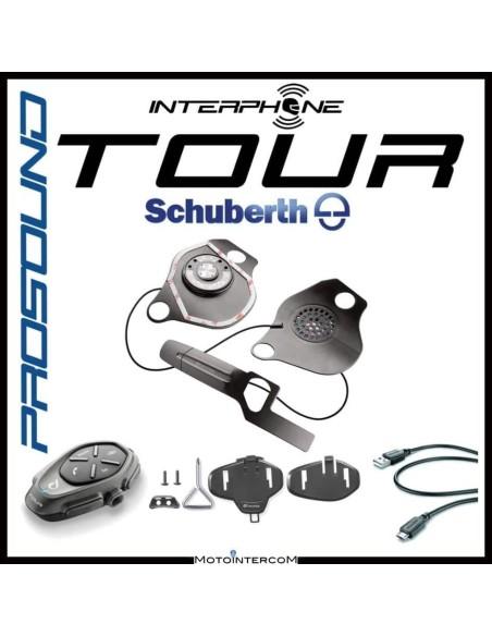 XBE Tour single Interphone Cellularline Pro Sound SCHUBERTH