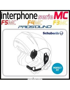 Kit audio pro-sound specifico per caschi schuberth interfono serie MC f3mc f4mc f5mc